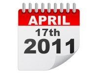 2011 Tax Filing Due Date April 17, 2012