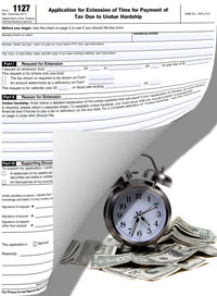 irs payment extension form 1127