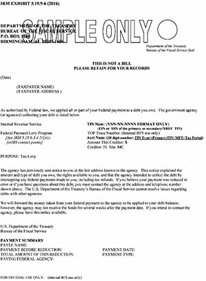 notice of intent to offset